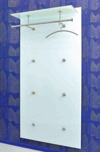 PACIFIC 1 Garderobe S6 Glas ultrawhite mit Hutablage