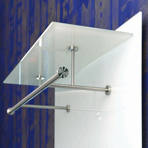 PACIFIC 1 Wandgarderobe, Glas ultrawhite, Detail
