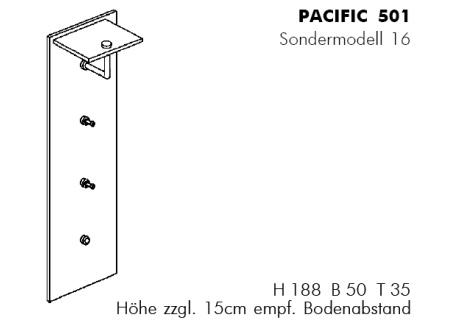 PACIFIC 501 Wandgarderobe S16 Details
