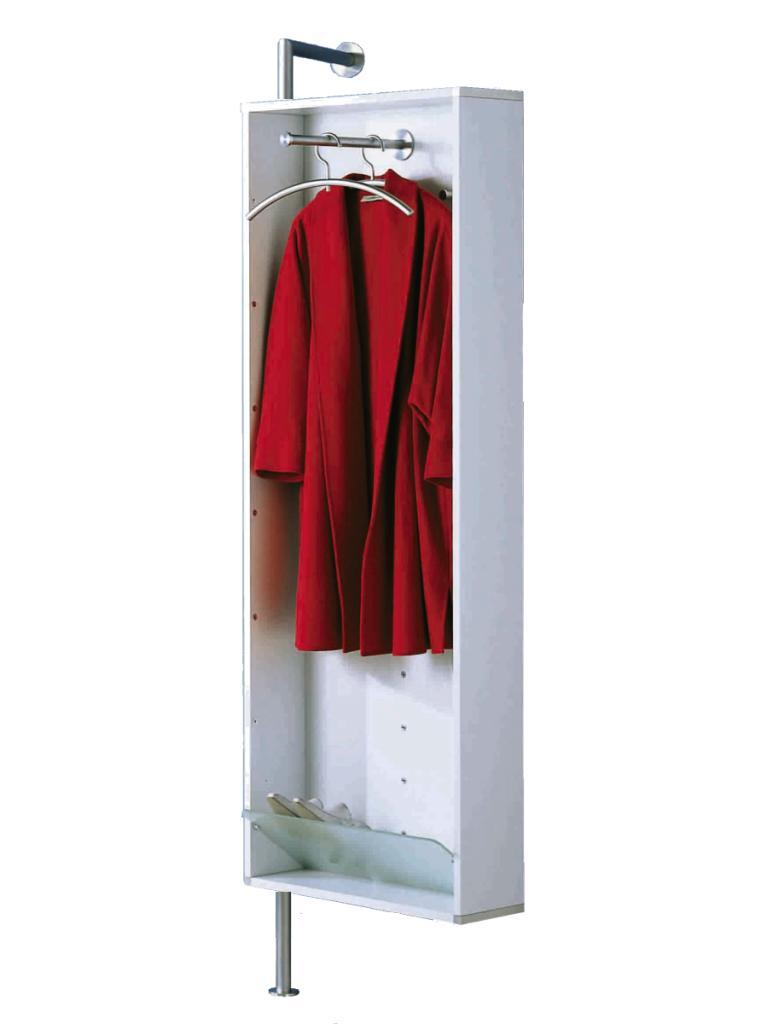 YALOU Garderobe drehbar weiß mit Spiegel
