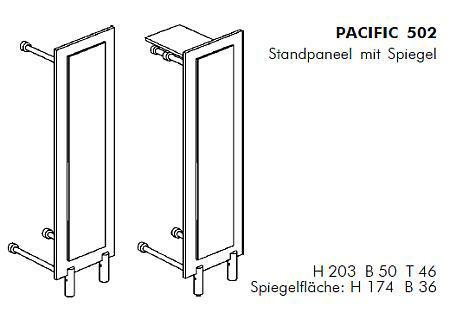 PACIFIC 502 Standgarderobe Details