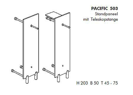 PACIFIC 503 Standgarderobe Details