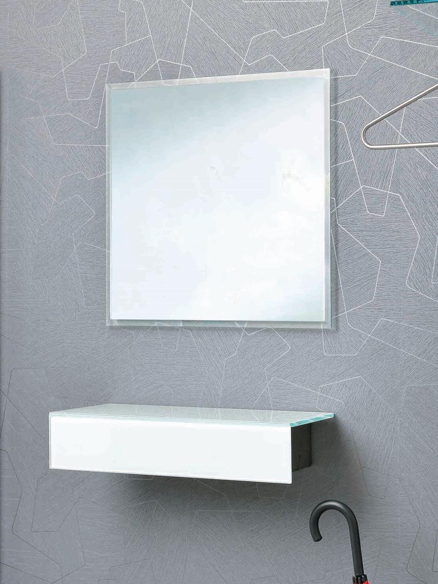 FACET 2 Wandspiegel, 80 x 80 cm, mit Facetten-Schliff