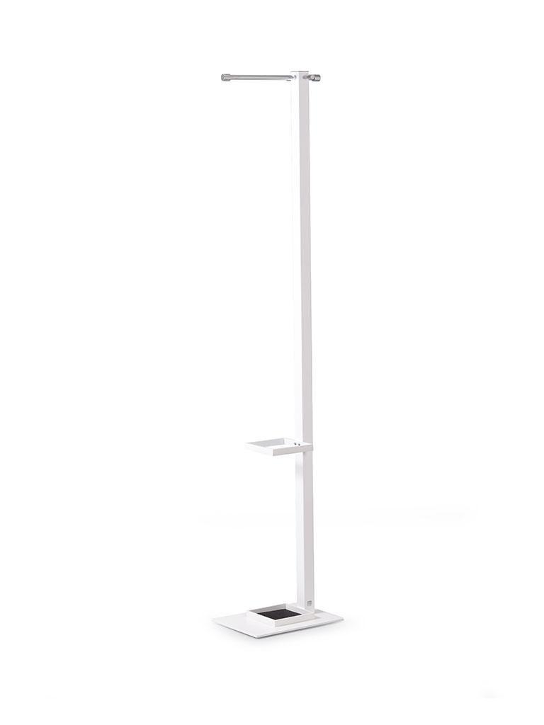 AIRO Standgarderobe 4-Kantrohr mit Schirmhalter weiß