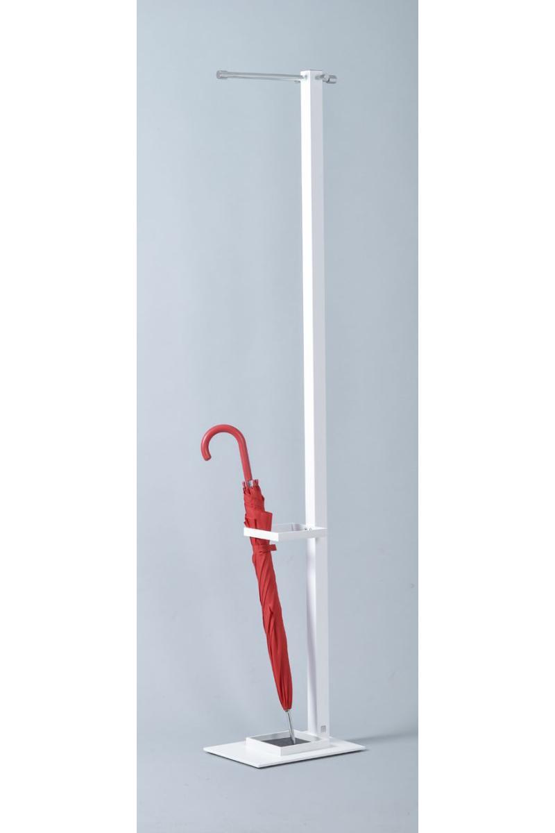 AIRO Standgarderobe 4-Kant-Rohr mit Schirmhalter und Tropfschale