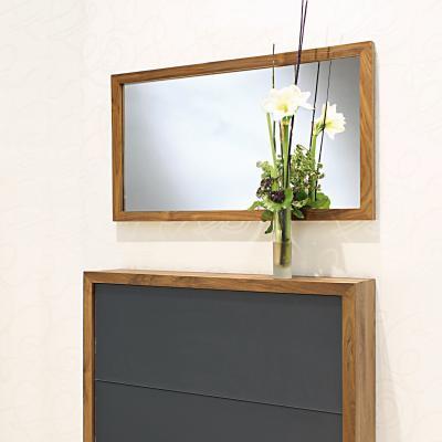 ATLANTIC Wandspiegel horizontal, mit Schuhschrank