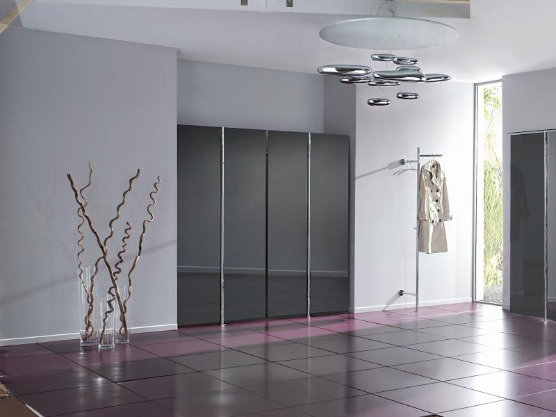 ALBATROS 1 Wandgarderobe, 2 Garderoben mit insgesamt 4 Türen anthrazit