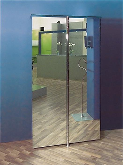 ALBATROS 1 Wandgarderobe mit 2 Spiegel-Türen (Doppelspiegel)