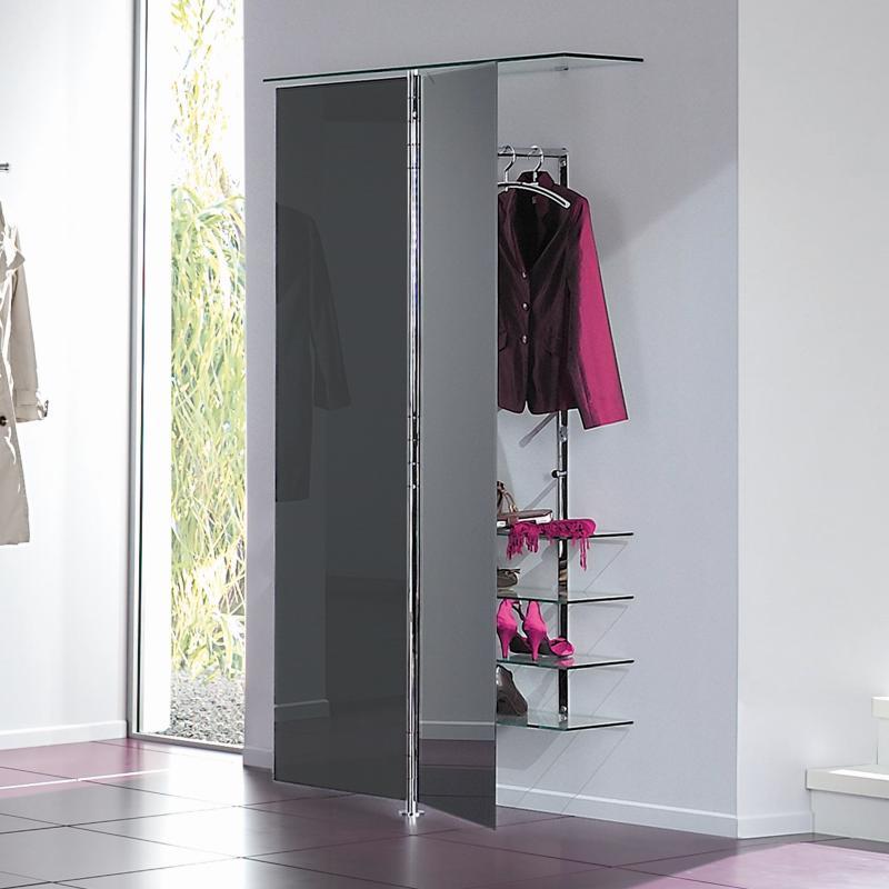 ALBATROS 7 Garderobe / Schuhschrank anthrazit, mit Kleiderbügel PENG