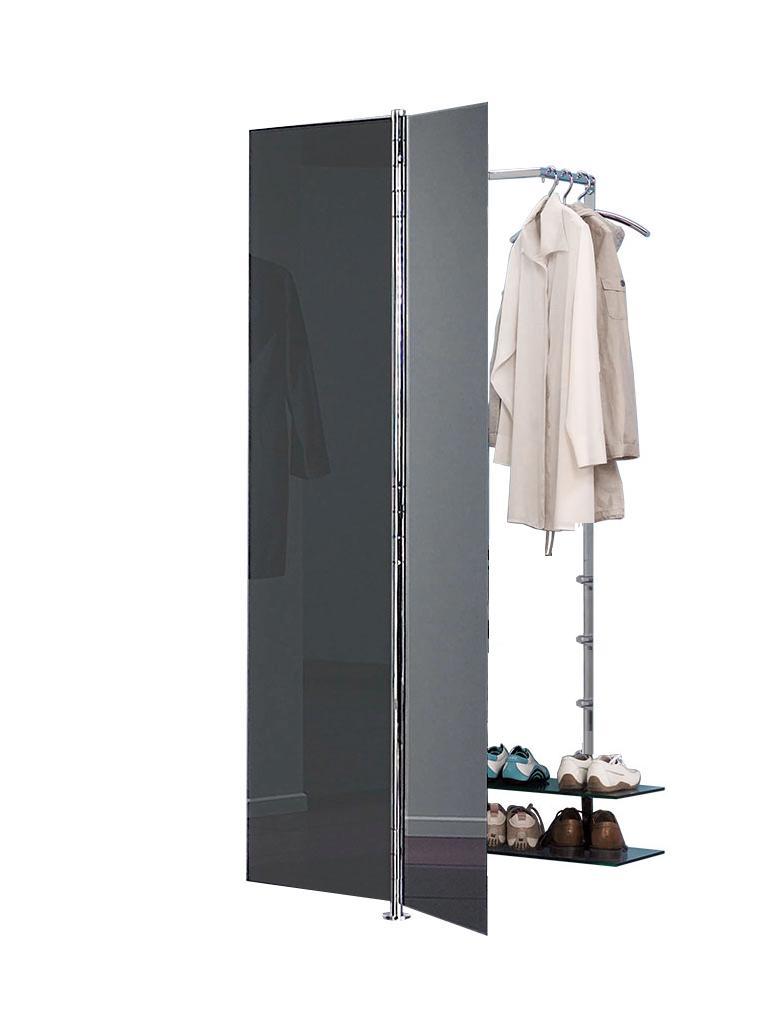 ALBATROS 7 Garderobe / Schuhschrank anthrazit, Kleiderbügel PENG