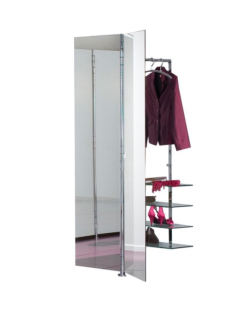 ALBATROS 7 Garderobe / Schuhschrank mit Doppel-Spiegel-Türen und zwei zusätzlichen Glasböden
