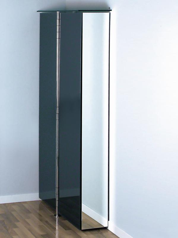 ALBATROS 7 Garderobe / Schuhschrank anthrazit mit Seitenteil