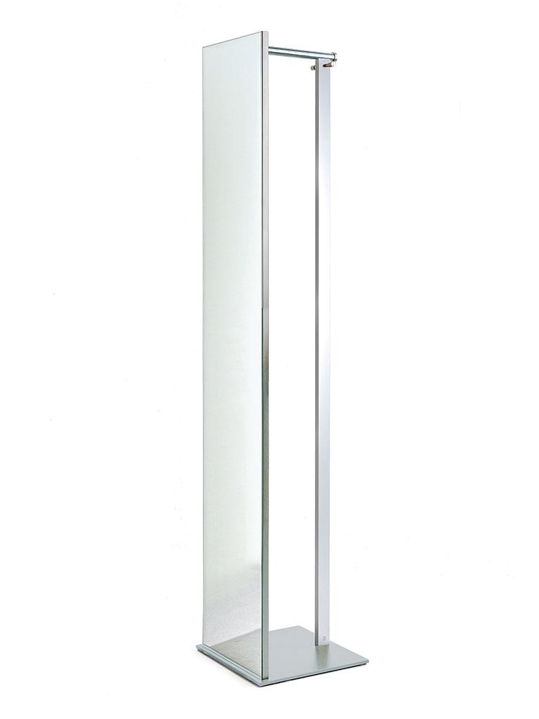 TOP Standgarderobe mit Spiegel silber