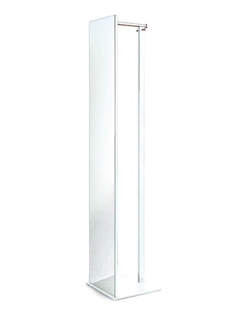 TOP Standgarderobe mit Spiegel weiß