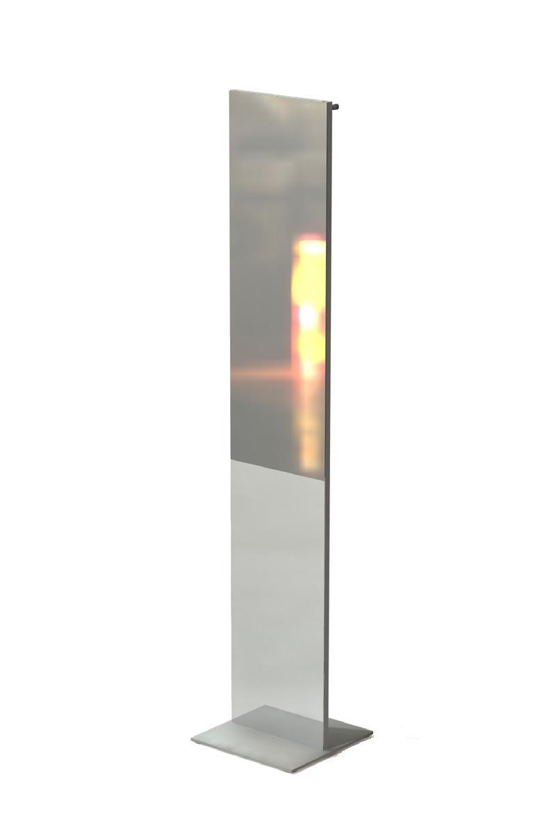 TOP Standspiegel mit Garderobenhaken silber