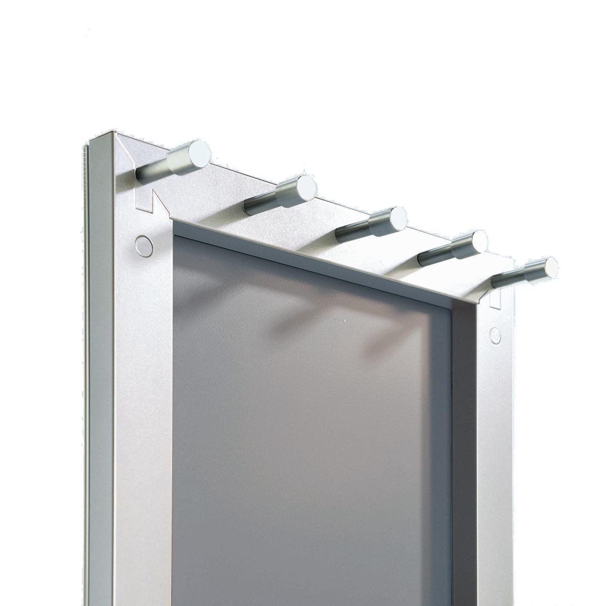 TOP Standspiegel Garderobe silber mit 5 Garderobenhaken auf der Rückseite