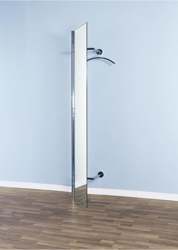 ALBA 2 Wandgarderobe mit geöffneter Spiegeltür, mit Kleiderbügel PENG
