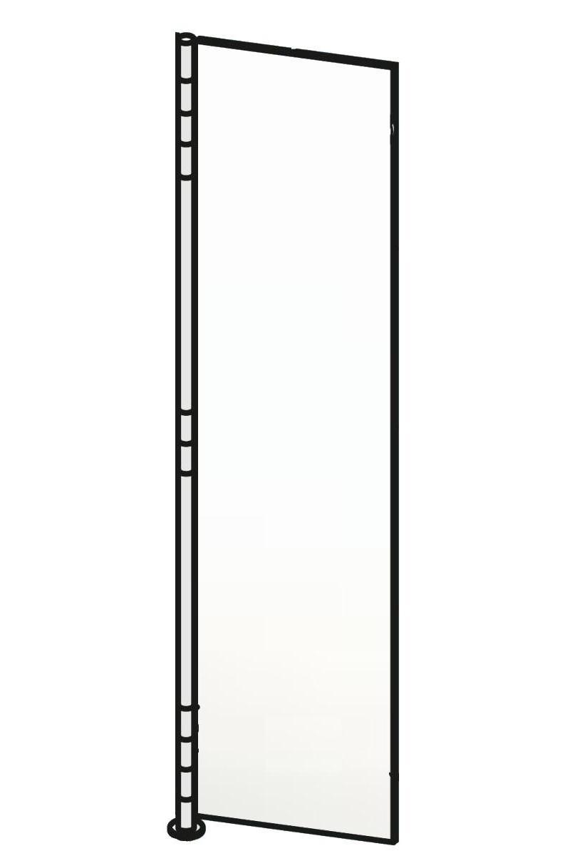 ALBA 2 Wandgarderobe Glas ultrawhite satinato
