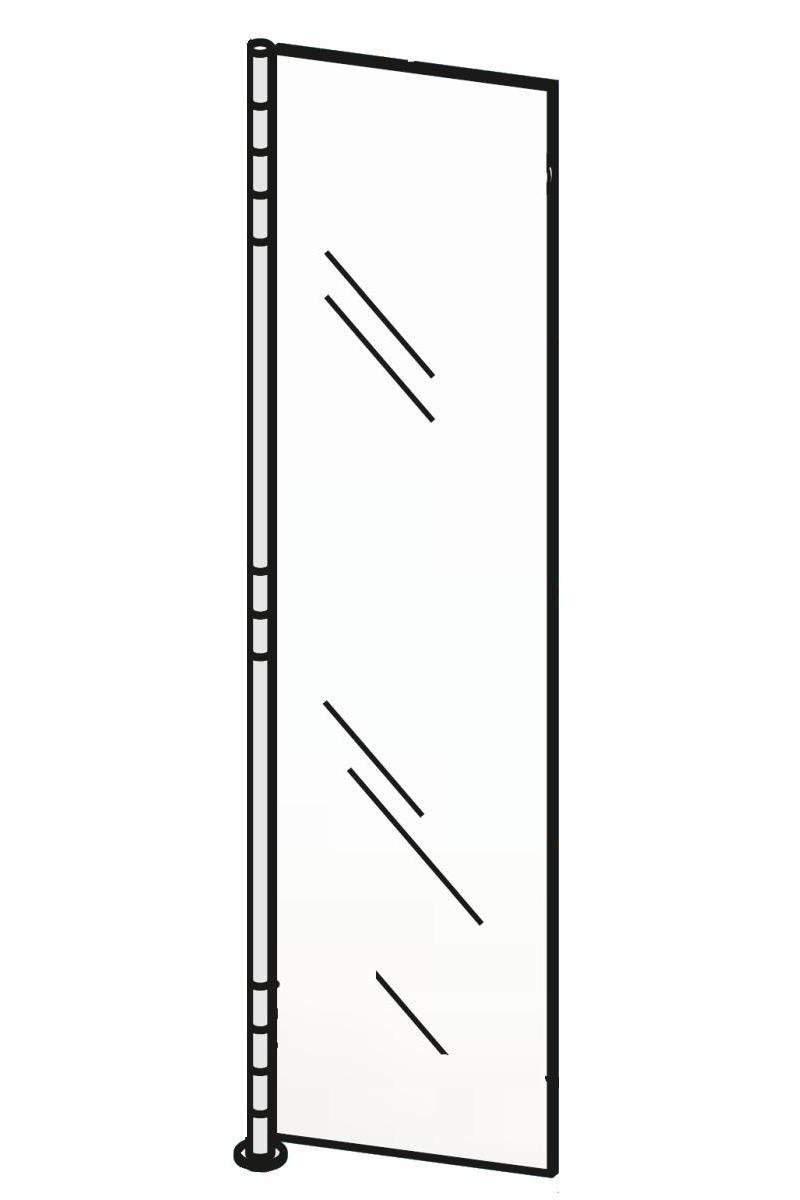ALBA 2 Wandgarderobe Glas ultrawhite