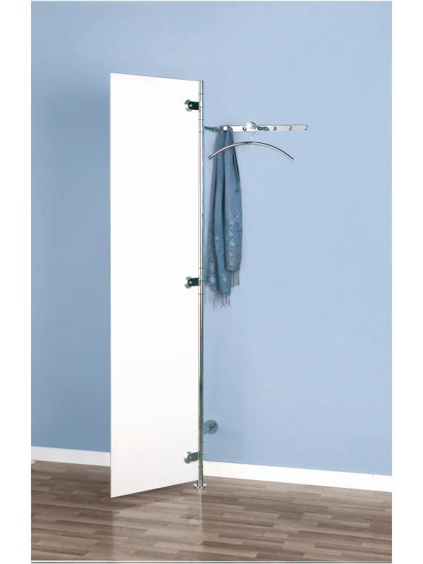 ALBA 2 Wandgarderobe ultrawhite mit geöffneter Tür