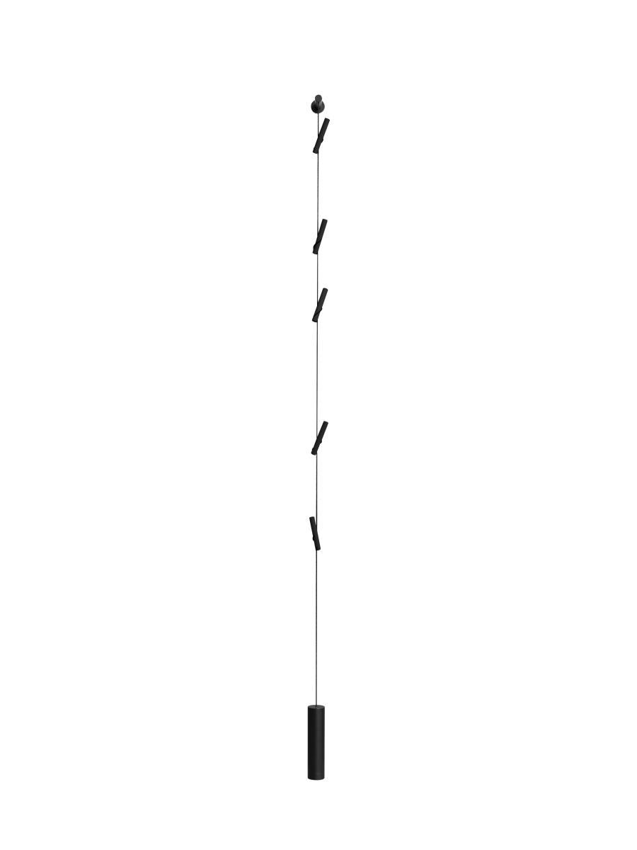RAPUNZEL Black Edition Hängegarderobe schwarz, Wand- oder Deckenmontage