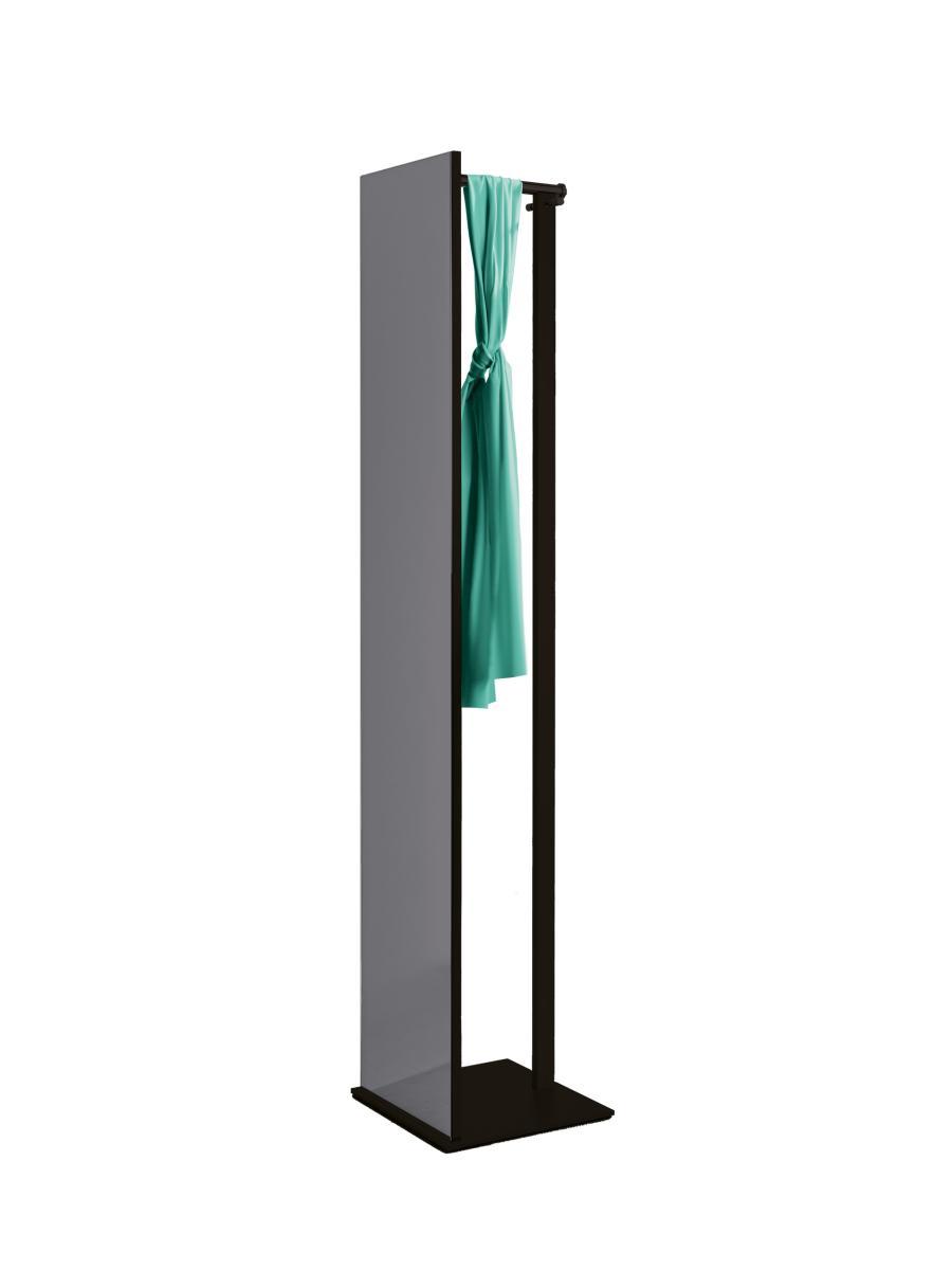 TOP Black Edition Standspiegel mit Garderobe, schwarz