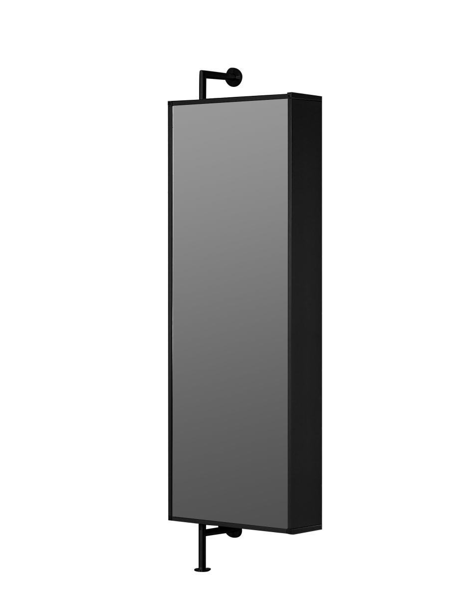 YALOU Black Edition Wandgarderobe drehbar, schwarz