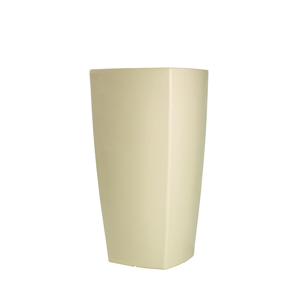 TREVIA beleuchtetes Pflanzgefäß 130 cm weiß
