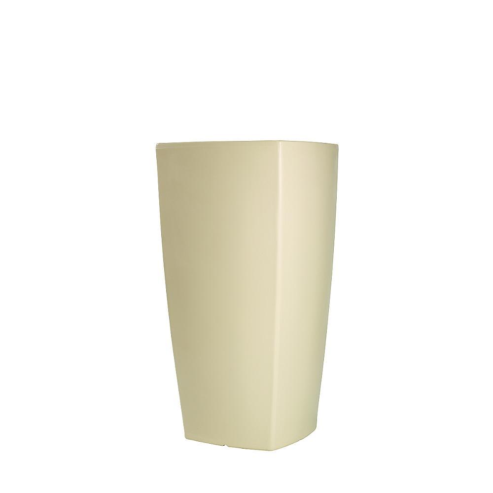 TREVIA beleuchtetes Pflanzgefäß 110 cm weiß