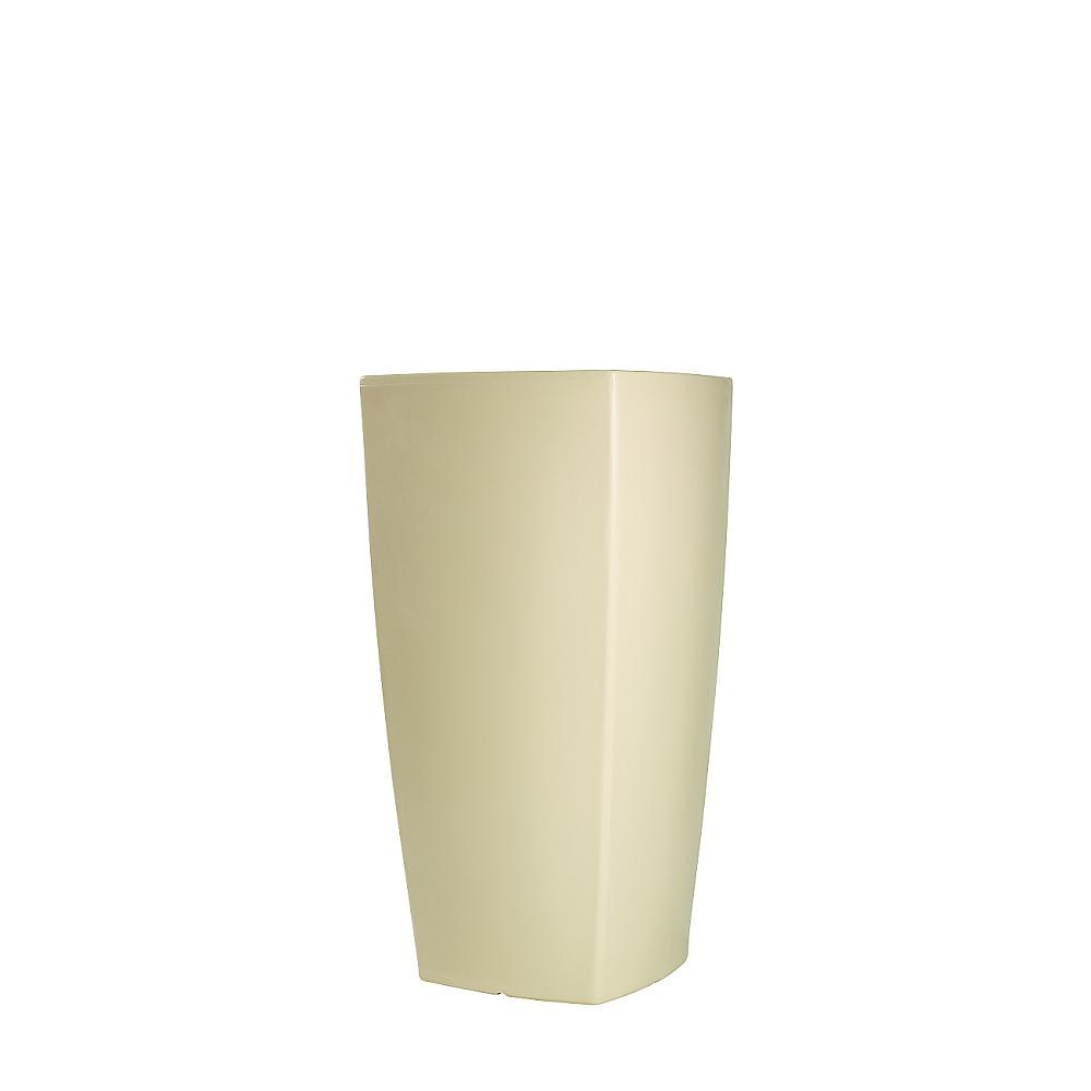TREVIA beleuchtetes Pflanzgefäß 90 cm weiß