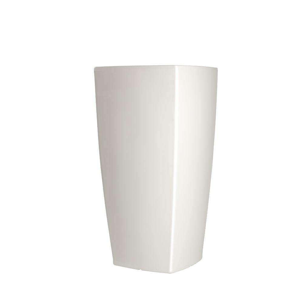 TREVIA I Pflanzgefäß 150 cm Hochglanz-Lackiert weiß