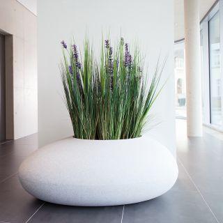 Storus II Pflanzgefäß Granit weiß