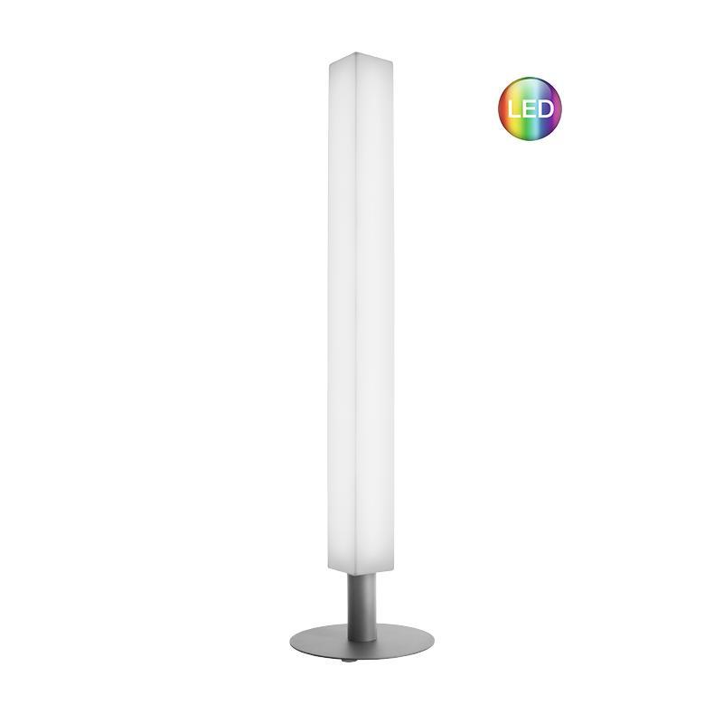 LUNOCS Stehleuchte CUBE mit LED Beleuchtung, 8 farbig mit Kaltweiß