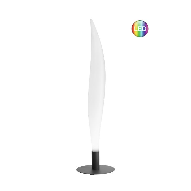 LUNOCS Stehleuchte FLAME mit LED Beleuchtung, 8 farbig mit Kaltweiß
