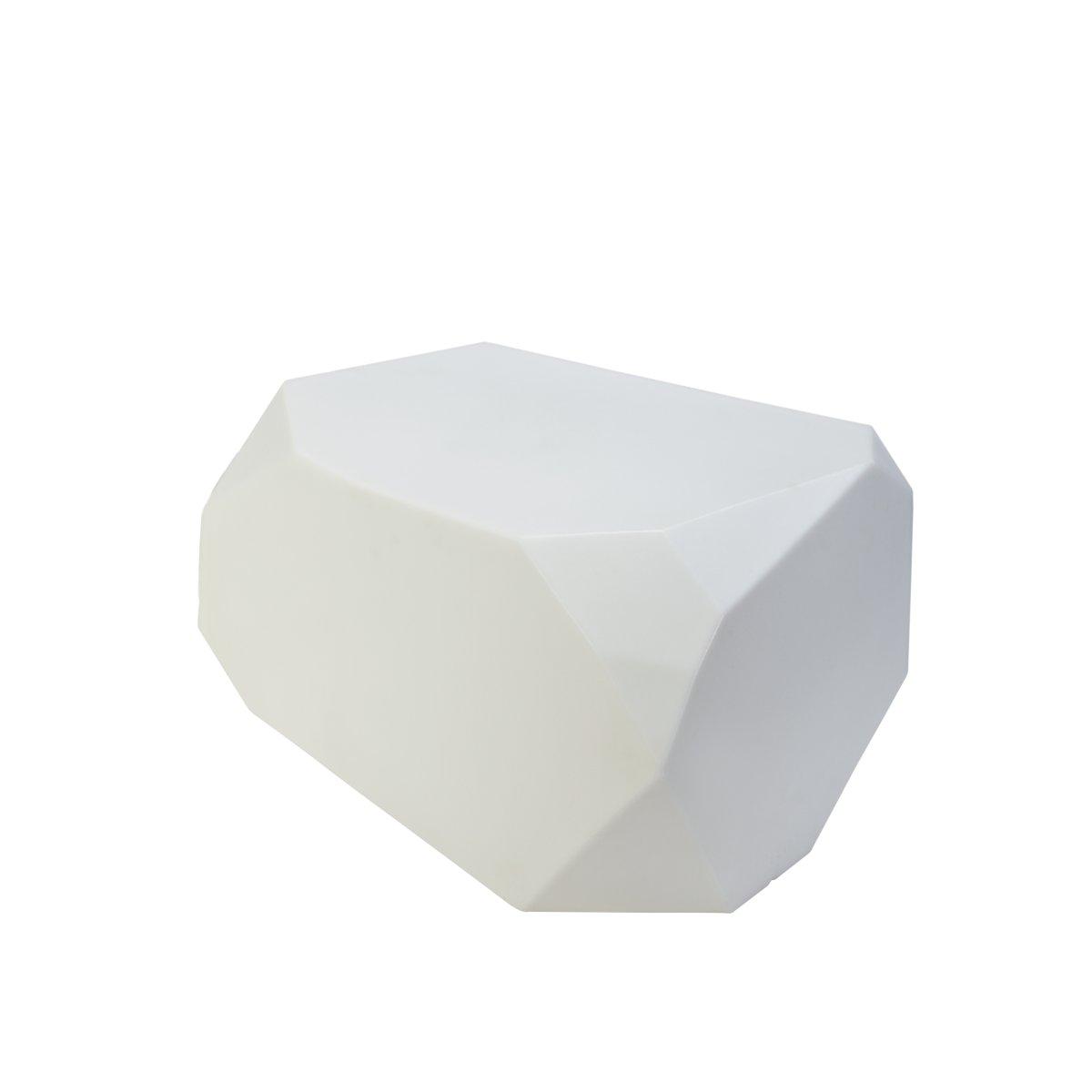 SERENO Sitzkristall / Hocker beleuchtet LED mit Akku, weiß