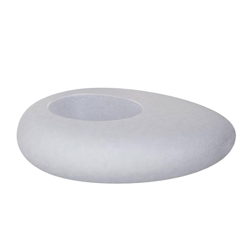 STORUS I Pflanzgefäß Granit-Optik hellgrau