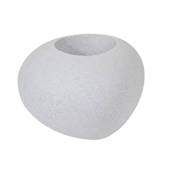 STORUS IV Pflanzgefäß Granit-Optik hellgrau