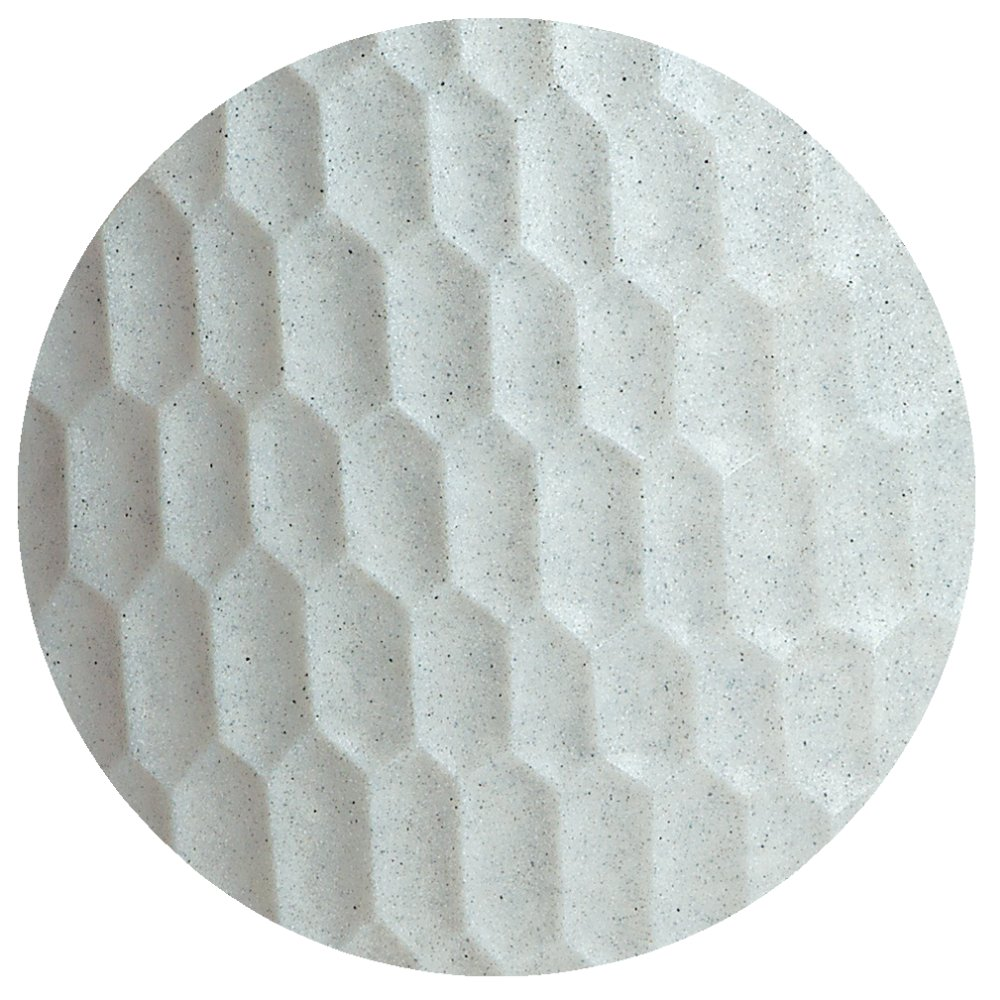 SERENO Pflanzgefäß Slim beleuchtet in Granit-Optik weiß