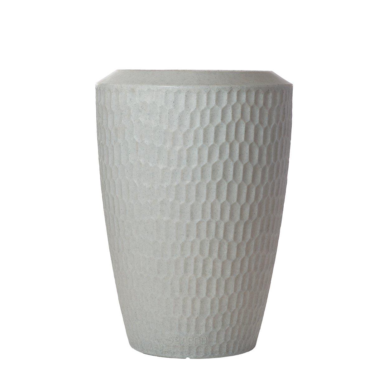 SERENO Pflanzgefäß beleuchtet 120 cm granit weiß