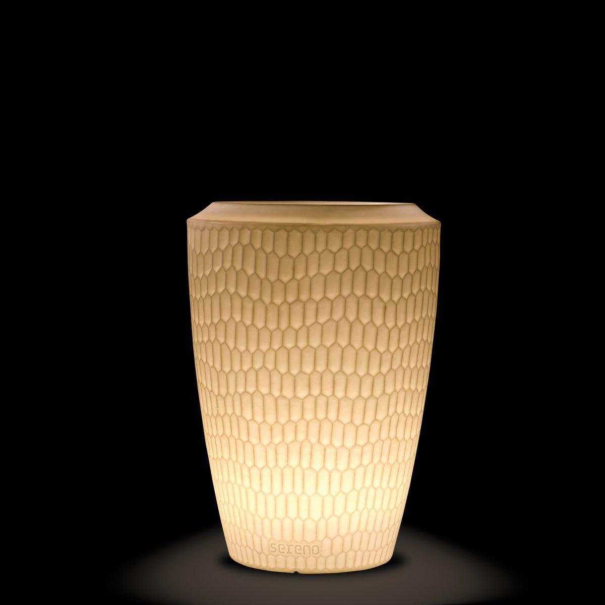 SERENO Pflanzgefäß 120 cm beleuchtet weiß