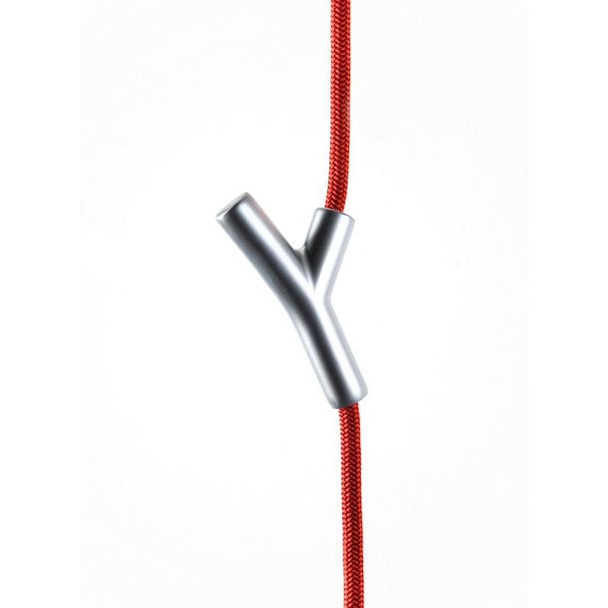 WARDROPE Hängegarderobe Seil rot, 4 Haken chrom matt