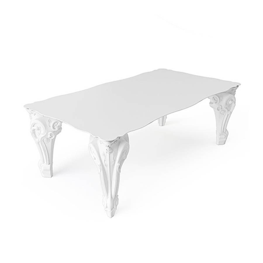 SIR OF LOVE Tisch Gestell weiß, Platte HPL weiß