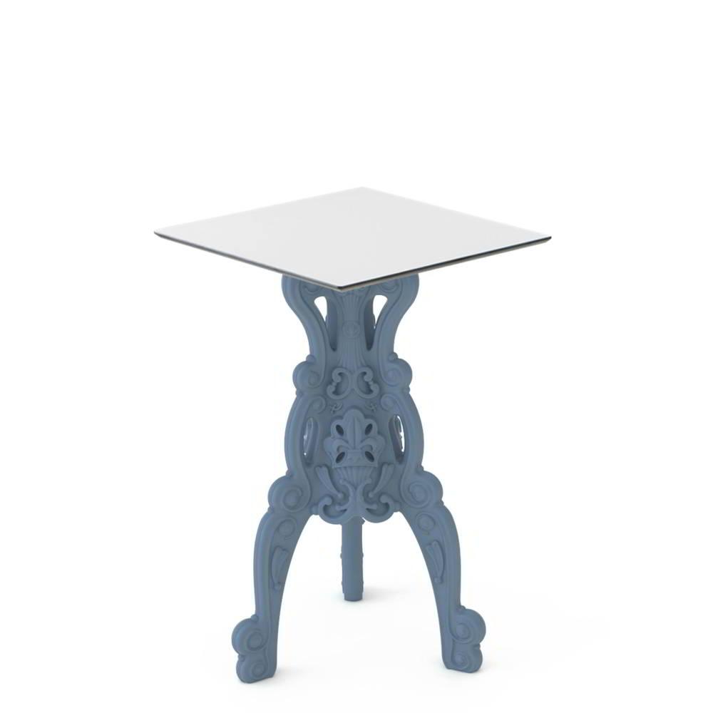 MASTER OF LOVE Stehtisch mit quadratischer Tischplatte HPL weiß
