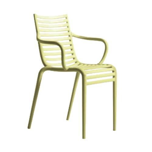 PIP-e Stuhl mit Armlehne gelb (C8)