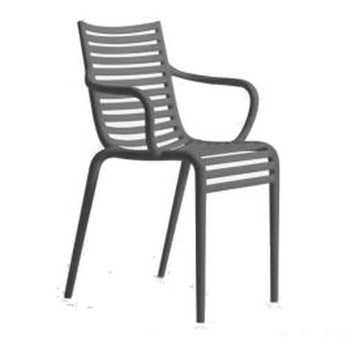 PIP-e Stuhl mit Armlehne grau (G11)