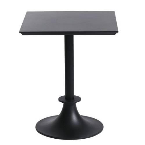 Tisch LORD YI Gartentisch anthrazitschwarz / Platte eckig SAN anthrazitschwarz