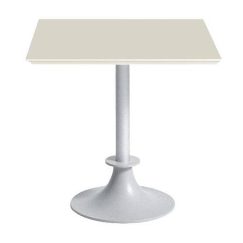 Tisch LORD YI Gartentisch silber / Platte eckig SAN elfenbein