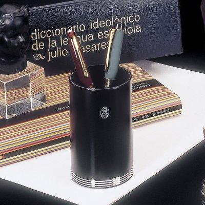 EL CASCO Stifthalter, Schwarz / 23 Karat vergoldet