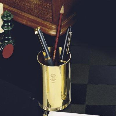 EL CASCO Stifthalter, M651, rund, 23 Karat vergoldet