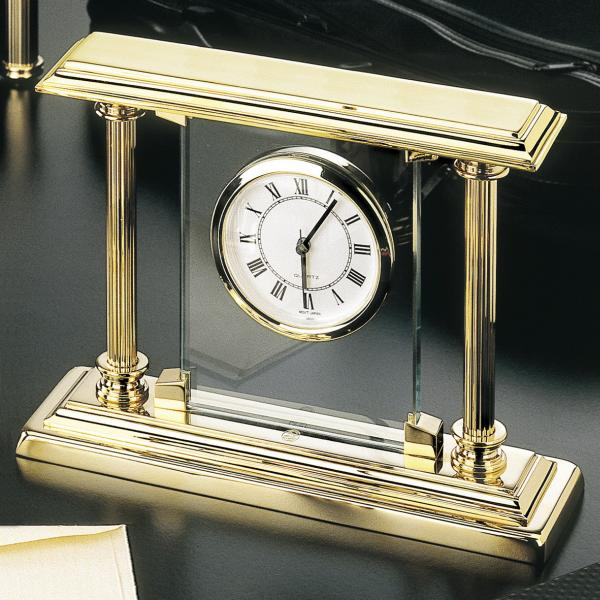 El Casco Kamin-Uhr M663L, 23 Karat vergoldet